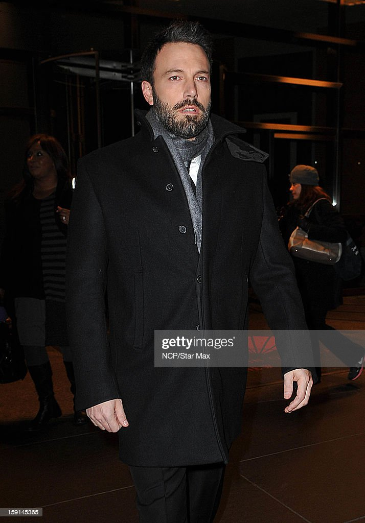 Actor <a gi-track='captionPersonalityLinkClicked' href=/galleries/search?phrase=Ben+Affleck&family=editorial&specificpeople=201856 ng-click='$event.stopPropagation()'>Ben Affleck</a> as seen on January 8, 2013 in New York City.