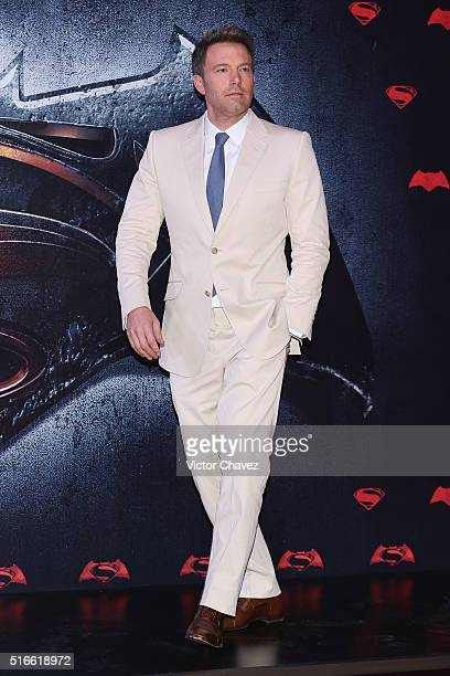 Actor Ben Affleck attends the 'Batman v Superman Dawn of Justice' world premiere Mexico City at Auditorio Nacional on March 19 2016 in Mexico City...