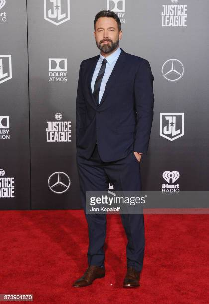 Actor Ben Affleck attends the Los Angeles Premiere of Warner Bros Pictures' 'Justice League' at Dolby Theatre on November 13 2017 in Hollywood...
