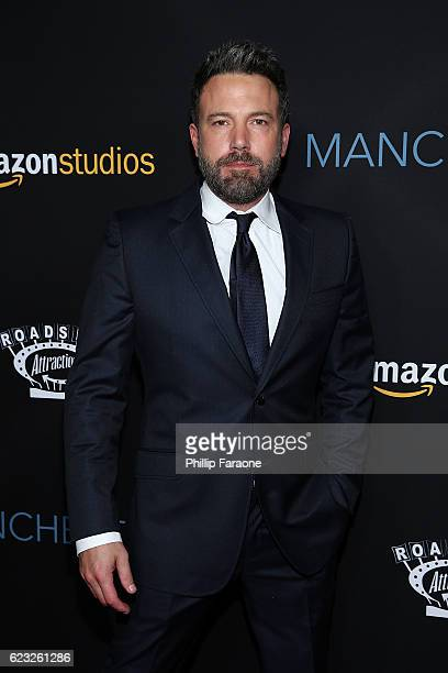 Actor Ben Affleck attends the premiere of Amazon Studios' 'Manchester By The Sea' at Samuel Goldwyn Theater on November 14 2016 in Beverly Hills...