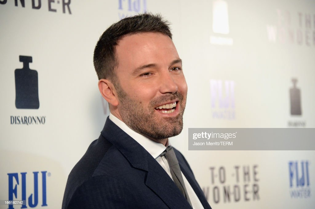 Actor <a gi-track='captionPersonalityLinkClicked' href=/galleries/search?phrase=Ben+Affleck&family=editorial&specificpeople=201856 ng-click='$event.stopPropagation()'>Ben Affleck</a> attends the premiere of Magnolia Pictures' 'To The Wonder' at Pacific Design Center on April 9, 2013 in West Hollywood, California.