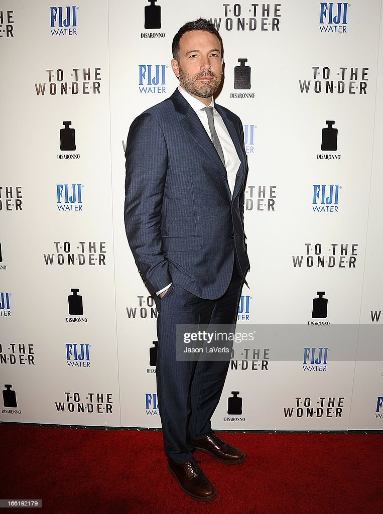 Actor <a gi-track='captionPersonalityLinkClicked' href=/galleries/search?phrase=Ben+Affleck&family=editorial&specificpeople=201856 ng-click='$event.stopPropagation()'>Ben Affleck</a> attends the premiere of 'To The Wonder' at Pacific Design Center on April 9, 2013 in West Hollywood, California.