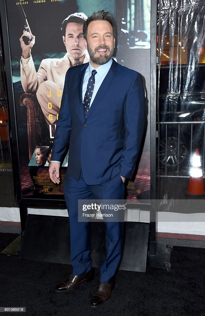 Actor Ben Affleck attends the premiere of Warner Bros. Pictures' 'Live By Night' at TCL Chinese Theatre on January 9, 2017 in Hollywood, California.