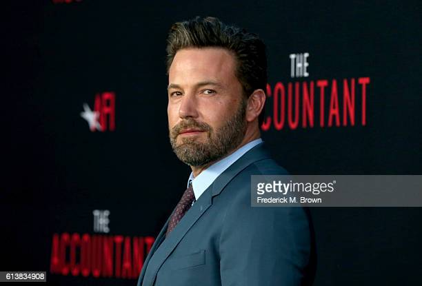 Actor Ben Affleck attends the premiere of Warner Bros Pictures' 'The Accountant' at TCL Chinese Theatre on October 10 2016 in Hollywood California