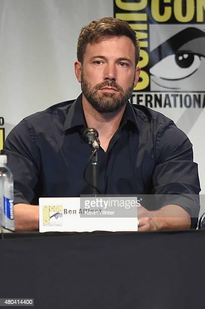 Actor Ben Affleck attends the Warner Bros 'Batman v Superman Dawn of Justice' presentation during ComicCon International 2015 at the San Diego...