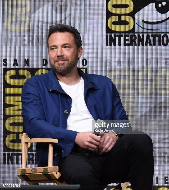 Actor Ben Affleck attends the Warner Bros Pictures 'Justice League' Presentation during ComicCon International 2017 at San Diego Convention Center on...