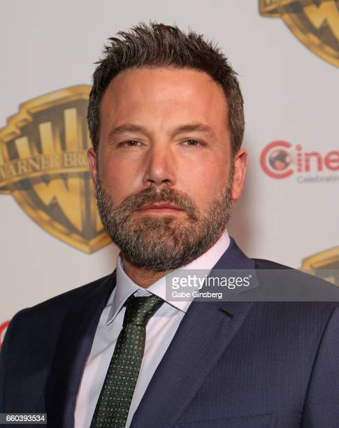 Actors Ben Affleck attends the Warner Bros Pictures presentation during CinemaCon at The Colosseum at Caesars Palace on March 29 2017 in Las Vegas...