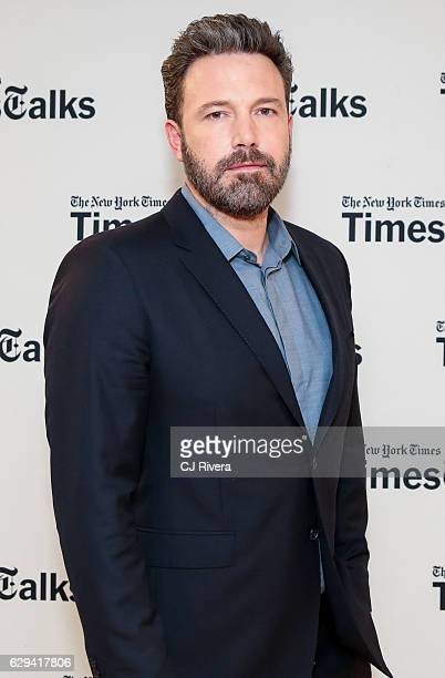 Actor Ben Affleck attends TimesTalks In Conversation with Chip McGrath at The New York Times Center on December 12 2016 in New York City