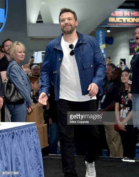 Actor Ben Affleck during the 'Justice League' autograph signing at ComicCon International 2017 at San Diego Convention Center on July 22 2017 in San...