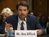 Actor Ben Affleck founder of the Eastern Congo Initiative testifies during a Senate Foreign Relations Committee hearing on Capitol Hill February 26...