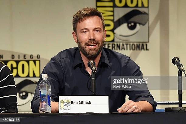 Actor Ben Affleck from 'Batman v Superman Dawn of Justice' attends the Warner Bros presentation during ComicCon International 2015 at the San Diego...
