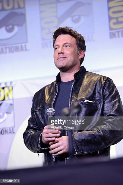 Actor Ben Affleck from 'Justice League' attends the Warner Bros Presentation during ComicCon International 2016 at San Diego Convention Center on...