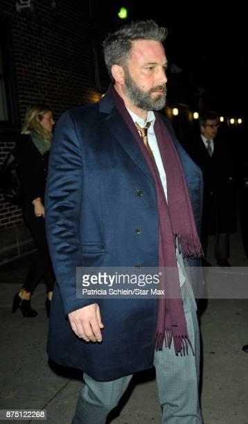 Actor Ben Affleck is seen on November 16 2017 in New York City
