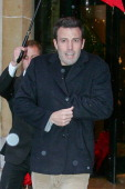 Actor Ben Affleck leaves the 'Plaza Athenee' hotel on October 29 2007 in Paris France