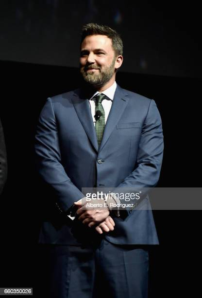 "Actor Ben Affleck onstage at CinemaCon 2017 Warner Bros Pictures Invites You to ""The Big Picture"" an Exclusive Presentation of our Upcoming Slate at..."