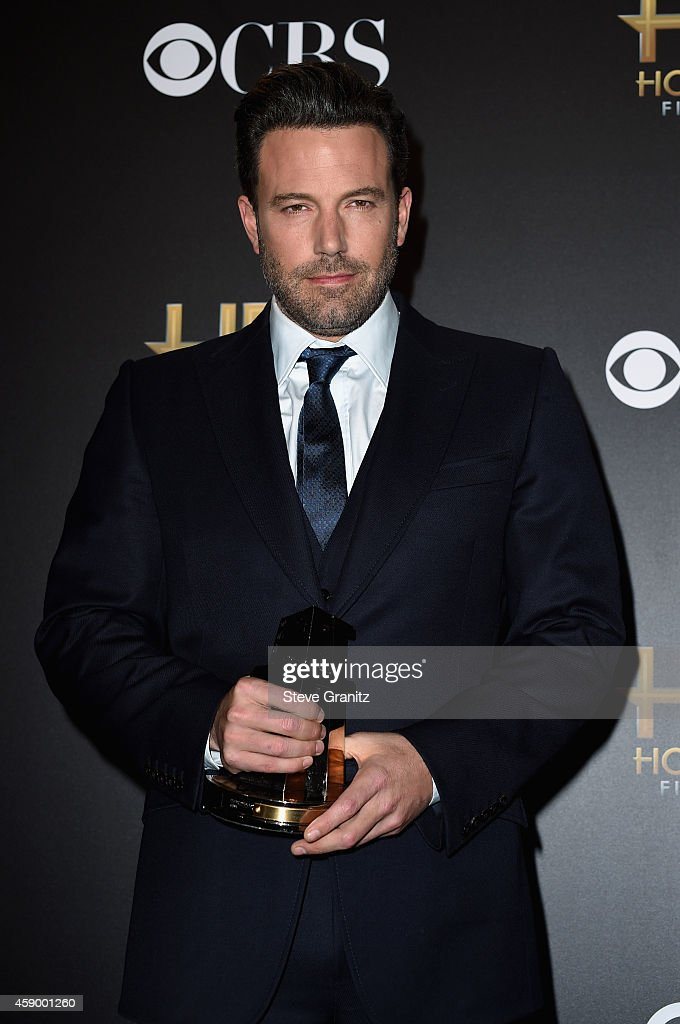 Actor <a gi-track='captionPersonalityLinkClicked' href=/galleries/search?phrase=Ben+Affleck&family=editorial&specificpeople=201856 ng-click='$event.stopPropagation()'>Ben Affleck</a> poses in the press room during the 18th Annual Hollywood Film Awards at The Palladium on November 14, 2014 in Hollywood, California.