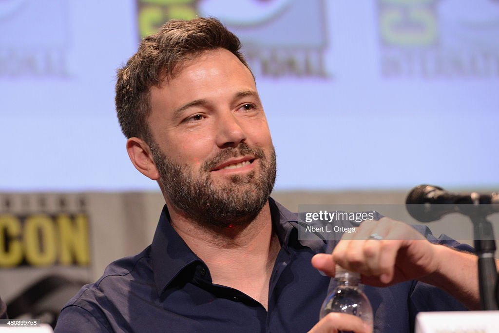 Actor Ben Affleck speaks onstage at the Warner Bros. 'Batman v Superman: Dawn of Justice' presentation during Comic-Con International 2015 at the San Diego Convention Center on July 11, 2015 in San Diego, California.