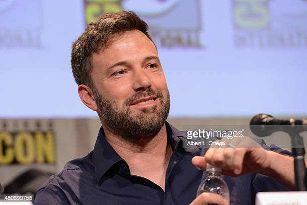 Actor Ben Affleck speaks onstage at the Warner Bros 'Batman v Superman Dawn of Justice' presentation during ComicCon International 2015 at the San...