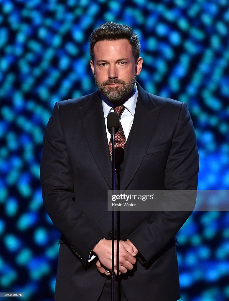 Actor <a gi-track='captionPersonalityLinkClicked' href=/galleries/search?phrase=Ben+Affleck&family=editorial&specificpeople=201856 ng-click='$event.stopPropagation()'>Ben Affleck</a> speaks onstage during The 2015 ESPYS at Microsoft Theater on July 15, 2015 in Los Angeles, California.