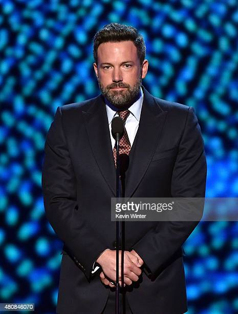 Actor Ben Affleck speaks onstage during The 2015 ESPYS at Microsoft Theater on July 15 2015 in Los Angeles California