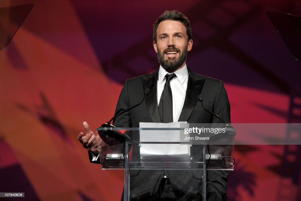 Actor <a gi-track='captionPersonalityLinkClicked' href=/galleries/search?phrase=Ben+Affleck&family=editorial&specificpeople=201856 ng-click='$event.stopPropagation()'>Ben Affleck</a> winner of the 2011 Chairman's Award speaks onstage at the 22nd Annual Palm Springs International Film Festival Awards Gala at the Palm Springs Convention Center on January 8, 2011 in Palm Springs, California.