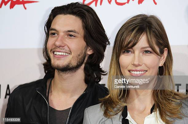 Actor Ben Barnes and actress Jessica Biel attend the 'Easy Virtue' Photocall during the 3rd Rome International Film Festival held at the Auditorium...
