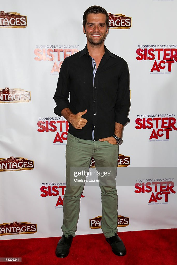 Actor Ben Decker arrives at the 'Sister Act' opening night premiere at the Pantages Theatre on July 9, 2013 in Hollywood, California.