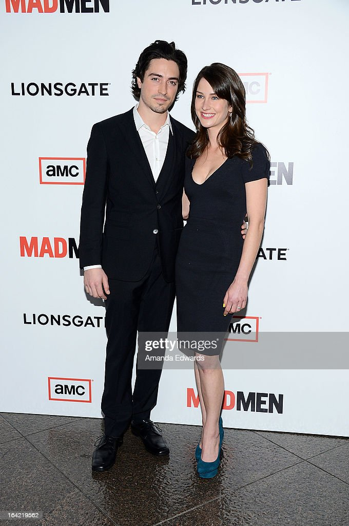 Actor Ben Feldman (L) and Michelle Mulitz arrive at AMC's 'Mad Men' Season 6 Premiere at the DGA Theater on March 20, 2013 in Los Angeles, California.