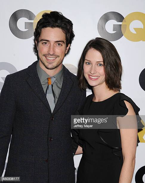 Actor Ben Feldman and Michelle Mulitz arrive at the 2013 GQ Men Of The Year Party at The Ebell of Los Angeles on November 12 2013 in Los Angeles...