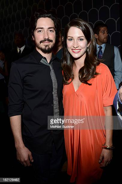Actor Ben Feldman and Michelle Mulitz attend Audi and Derek Lam Celebrate the 2012 Emmy Awards held at Cecconi's Restaurant on September 16 2012 in...