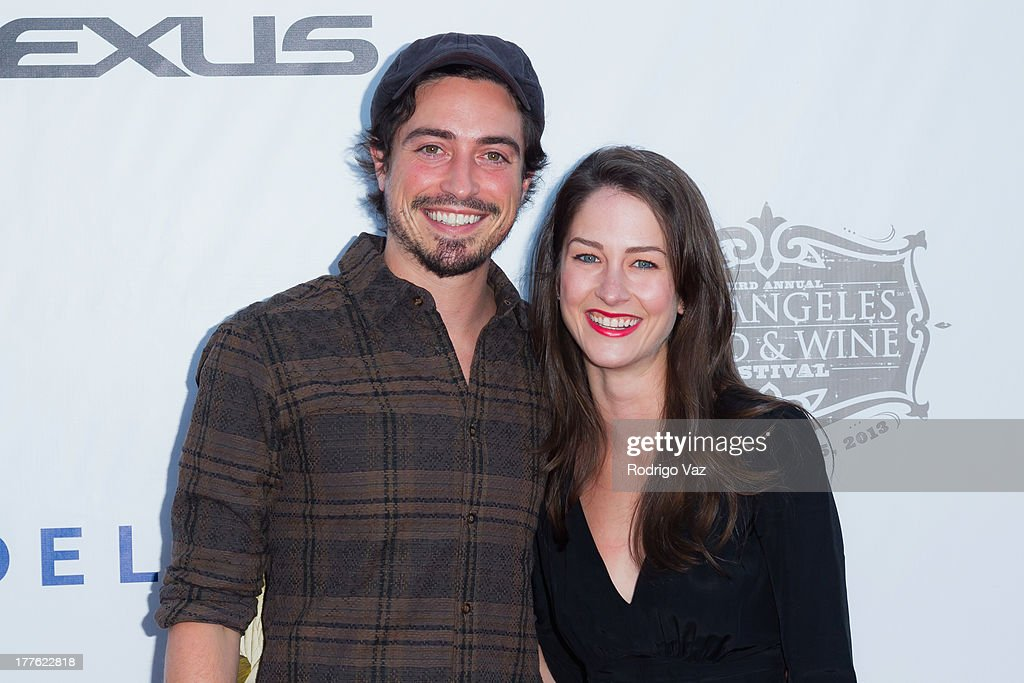 Actor Ben Feldman (L) and Michelle Mulitz attend LEXUS Live On Grand at the 3rd Annual Los Angeles Food & Wine Festival arrivals on August 24, 2013 in Los Angeles, California.