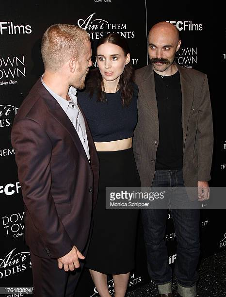 Actor Ben Foster actress Rooney Mara and director David Lowery attend the Downtown Calvin Klein with The Cinema Society screening of IFC Films'...