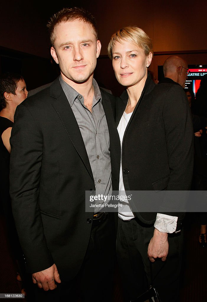 Actor Ben Foster and actress Robin Wright attend the 28th Annual Lucille Lortel Awards on May 5, 2013 in New York City.