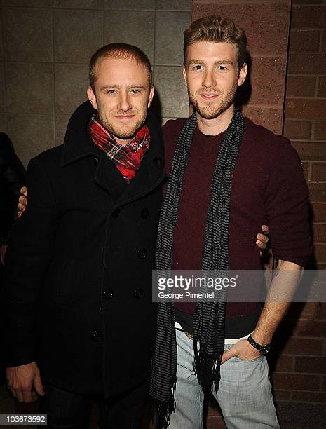 Actor Ben Foster and Jon Foster attend the premiere of 'The Messenger' during the 2009 Sundance Film Festival at Eccles Theatre on January 19 2009 in...