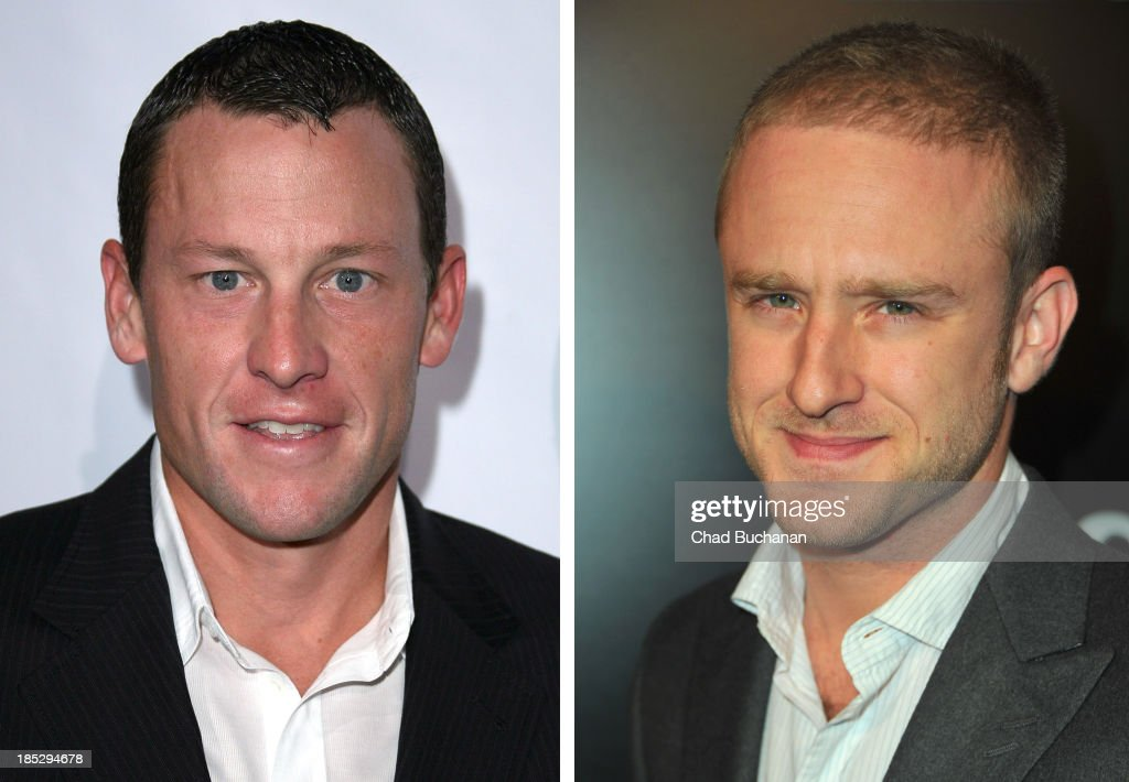 In this composite image a comparison has been made between <a gi-track='captionPersonalityLinkClicked' href=/galleries/search?phrase=Lance+Armstrong&family=editorial&specificpeople=203072 ng-click='$event.stopPropagation()'>Lance Armstrong</a> (L) and <a gi-track='captionPersonalityLinkClicked' href=/galleries/search?phrase=Ben+Foster+-+Actor&family=editorial&specificpeople=4180592 ng-click='$event.stopPropagation()'>Ben Foster</a>. Actor <a gi-track='captionPersonalityLinkClicked' href=/galleries/search?phrase=Ben+Foster+-+Actor&family=editorial&specificpeople=4180592 ng-click='$event.stopPropagation()'>Ben Foster</a> will reportedly play cyclist <a gi-track='captionPersonalityLinkClicked' href=/galleries/search?phrase=Lance+Armstrong&family=editorial&specificpeople=203072 ng-click='$event.stopPropagation()'>Lance Armstrong</a> in a film biopic based on Walsh's book, 'Seven Deadly Sins: My Pursuit of Lance Armstron' directed by Stephen Frears. LOS ANGELES, CA - JANUARY 25: Actor <a gi-track='captionPersonalityLinkClicked' href=/galleries/search?phrase=Ben+Foster+-+Actor&family=editorial&specificpeople=4180592 ng-click='$event.stopPropagation()'>Ben Foster</a> arrives to the premiere of CBS Films' 'The Mechanic' on January 25, 2011 in Los Angeles, California.