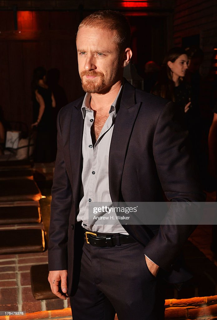 Actor Ben Foster attends the Downtown Calvin Klein with The Cinema Society screening of IFC Films' 'Ain't Them Bodies Saints' after party at Refinery Rooftop on August 13, 2013 in New York City.