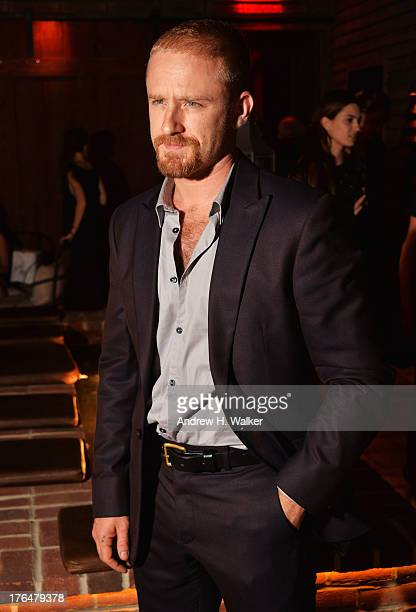 Actor Ben Foster attends the Downtown Calvin Klein with The Cinema Society screening of IFC Films' 'Ain't Them Bodies Saints' after party at Refinery...