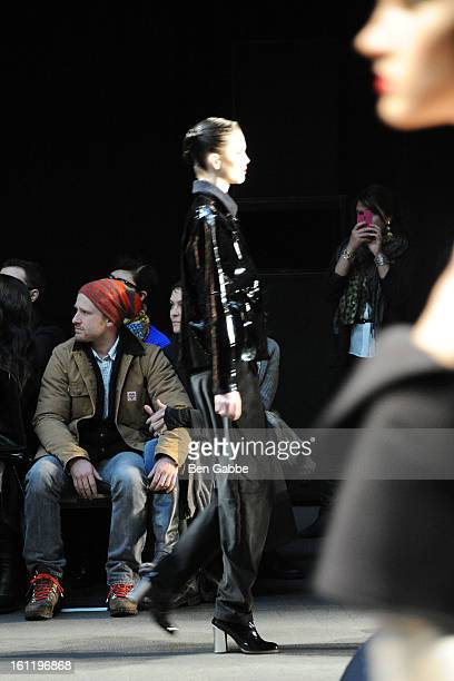 Actor Ben Foster attends the Jen Kao fall 2013 fashion show during MercedesBenz Fashion Week at Skylight Studios at Moynihan Station on February 9...