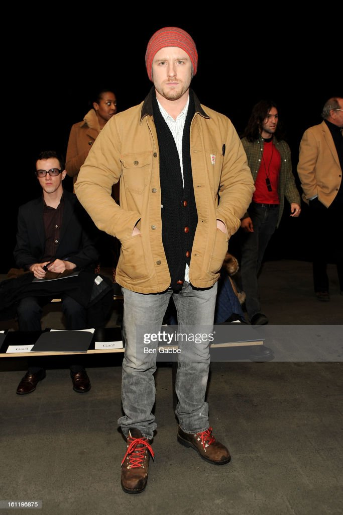 Actor Ben Foster attends the Jen Kao fall 2013 fashion show during Mercedes-Benz Fashion Week at Skylight Studios at Moynihan Station on February 9, 2013 in New York City.
