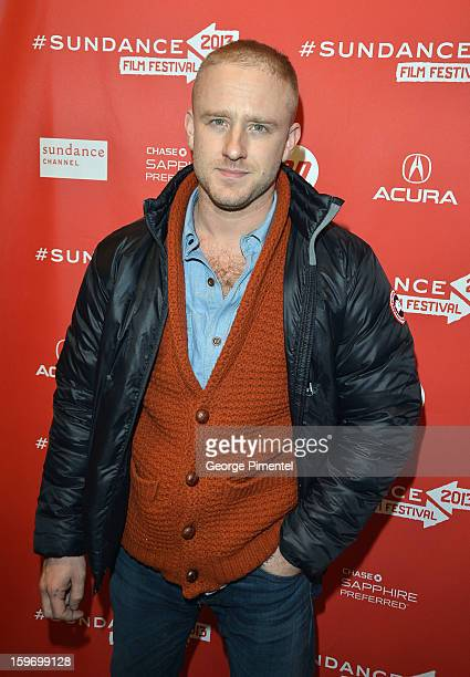 Actor Ben Foster attends the 'Kill Your Darlings' Premiere during the 2013 Sundance Film Festival at Eccles Center Theatre on January 18 2013 in Park...