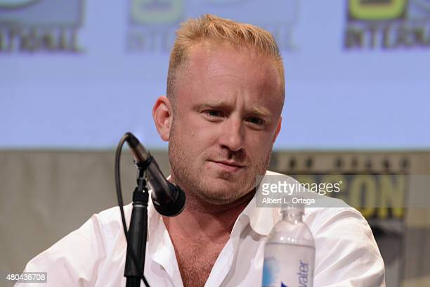 Actor Ben Foster speaks onstage at the Legendary Pictures panel during ComicCon International 2015 the at the San Diego Convention Center on July 11...
