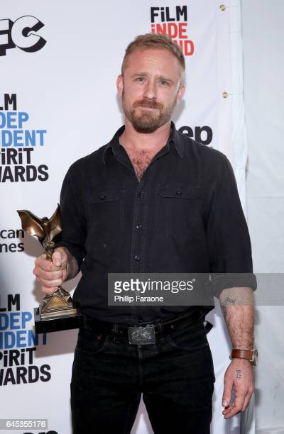 Actor Ben Foster winner of the Best Supporting Male award for 'Hell or High Water' poses in the press room during the 2017 Film Independent Spirit...