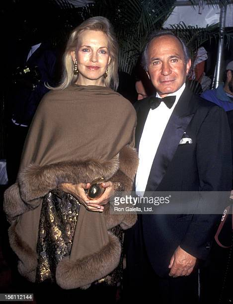 Actor Ben Gazzara and wife Elke Krivat attend the 'Party to Celebrating Cartier's Launch of the Tank Francaise Watch' on May 8 1996 at Former B...