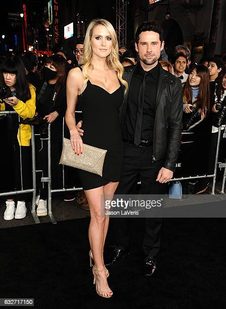 Actor Ben Hollingsworth and wife Nila Myers attend the premiere of 'xXx Return of Xander Cage' at TCL Chinese Theatre IMAX on January 19 2017 in...