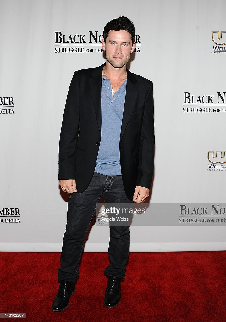 Actor Ben Hollingsworth attends the 'Black November' screening on April 18 2012 in Beverly Hills California
