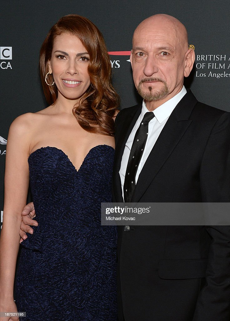 Actor Ben Kingsley (R) and <a gi-track='captionPersonalityLinkClicked' href=/galleries/search?phrase=Daniela+Lavender&family=editorial&specificpeople=750883 ng-click='$event.stopPropagation()'>Daniela Lavender</a> with Stylebop.com attend the 2013 BAFTA LA Jaguar Britannia Awards presented by BBC America at The Beverly Hilton Hotel on November 9, 2013 in Beverly Hills, California.