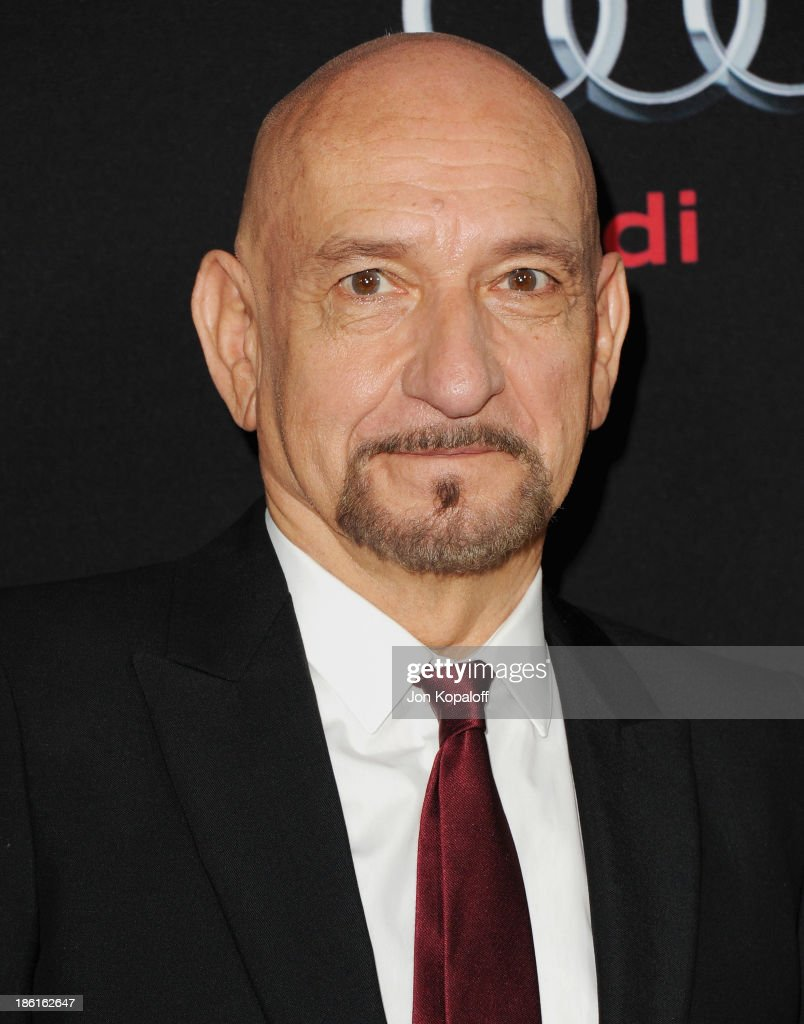 Actor Ben Kingsley arrives at the Los Angeles Premiere 'Ender's Game' at TCL Chinese Theatre on October 28 2013 in Hollywood California