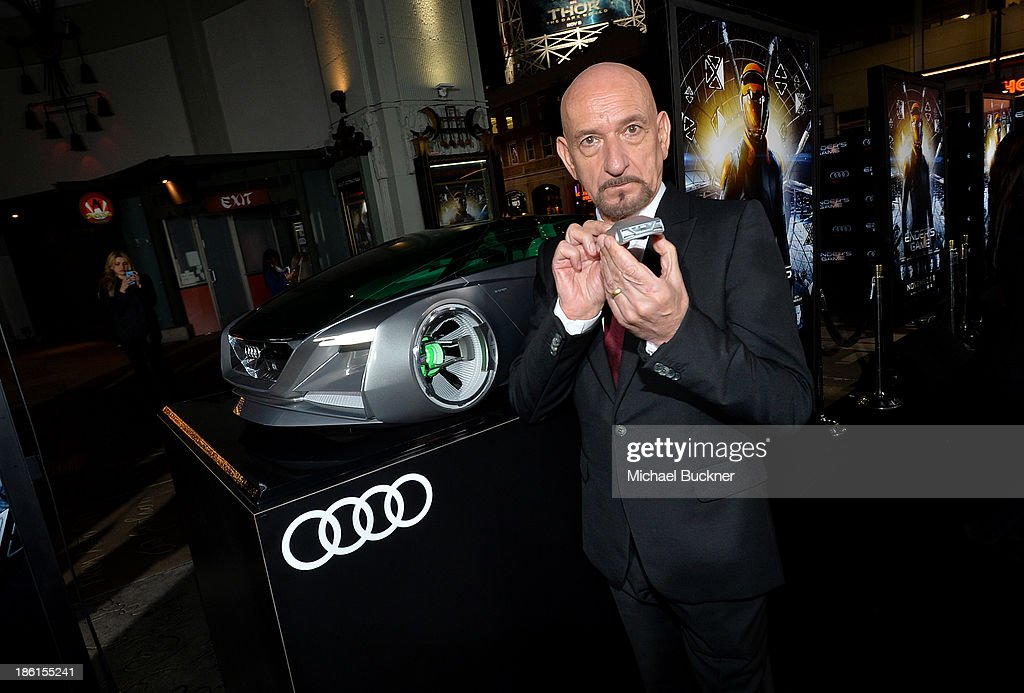 Actor Ben Kingsley attends the premiere of 'Ender's Game' presented by Audi at TCL Chinese Theatre on October 28 2013 in Hollywood California