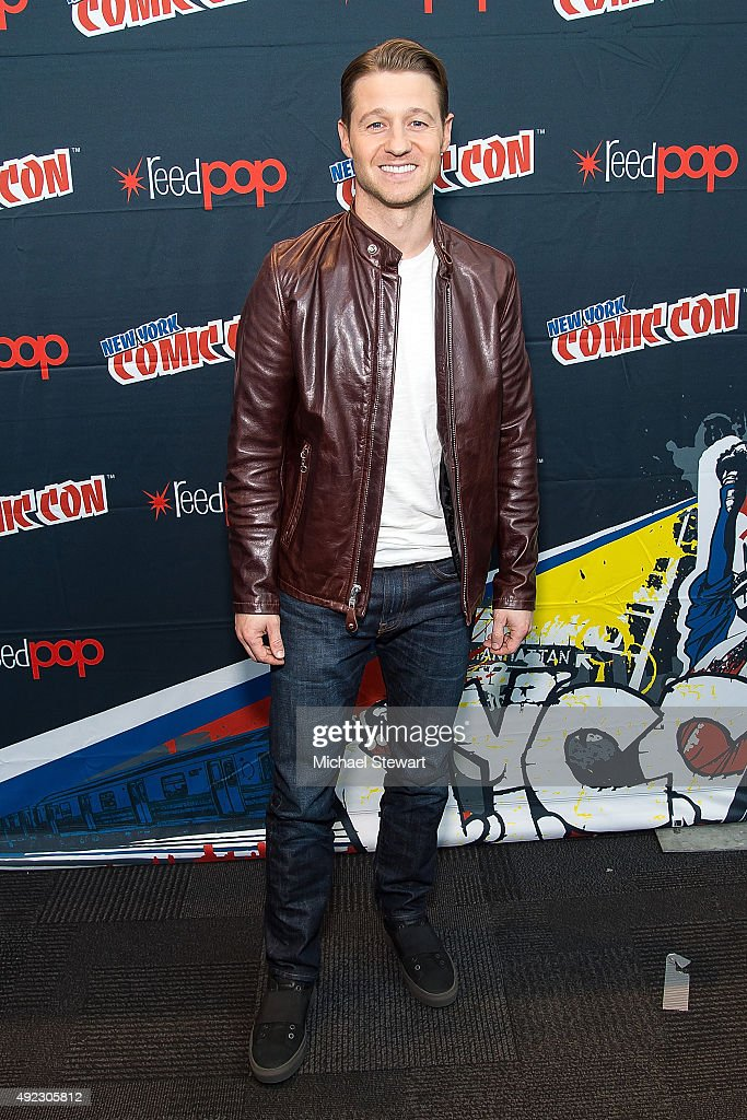 Actor Ben McKenzie poses in the press room for the 'Gotham' panel during Comic-Con Day 4 at The Jacob K. Javits Convention Center on October 11, 2015 in New York City.