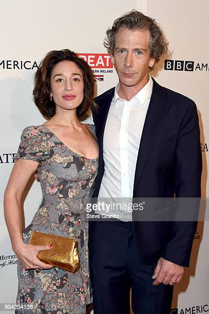 Actor Ben Mendelsohn and journalist Emma Forrest attend the BAFTA Los Angeles Awards Season Tea at Four Seasons Hotel Los Angeles at Beverly Hills on...